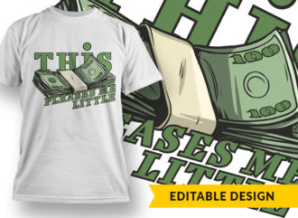 This Pleases Me Little T-shirt Designs and Templates vector
