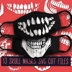 13 White Skull Face Mask Designs