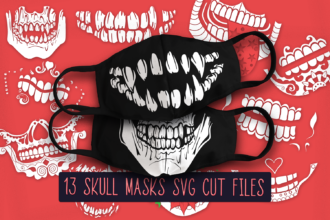 13 Skull Face Mask Designs Vector packs vector