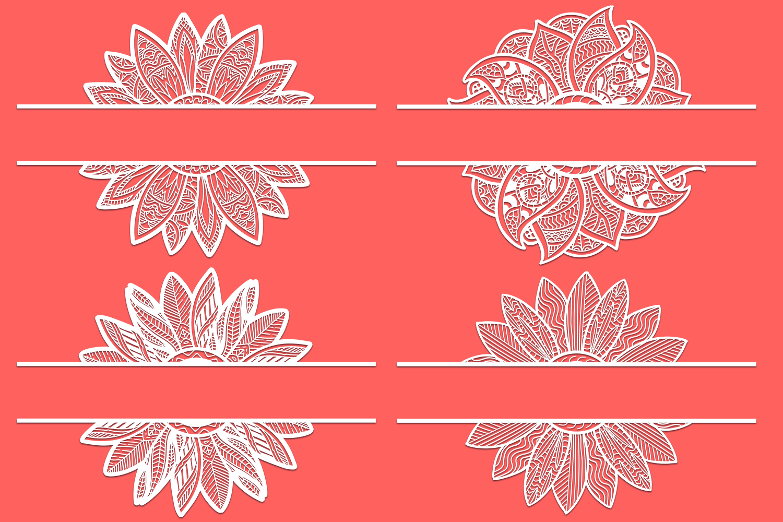 Download 24 Zentangle Sunflowers SVG Cut Files - Designious