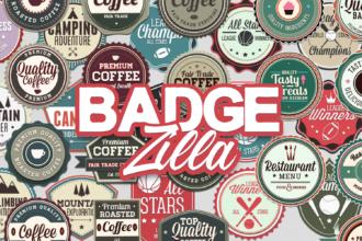 200+ Super Premium Badges Typographic Templates vintage