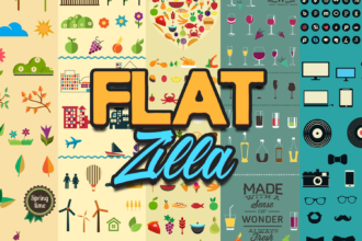 FlatZilla: Modern Vector Elements Bundle Zilla - Super Premium Bundles summer