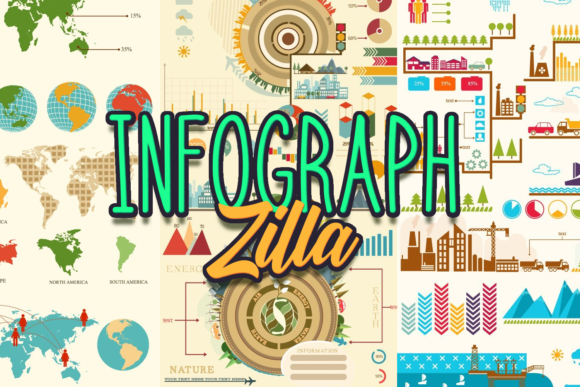 Super Premium Infographic Set Zilla - Super Premium Bundles industrial