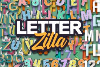 LetterZilla: The Super Premium Vector Alphabets Typographic Templates vintage