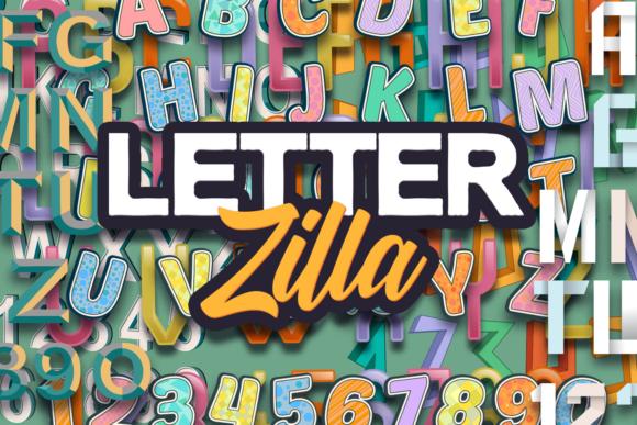 LetterZilla: The Super Premium Vector Alphabets LetterZilla