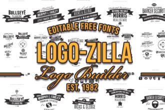 The Super Premium Logo Builder Typographic Templates vintage