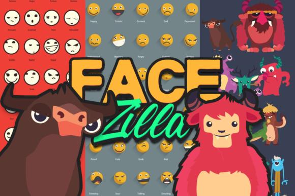 FaceZilla: Super Premium Vector Facial Expressions facezilla