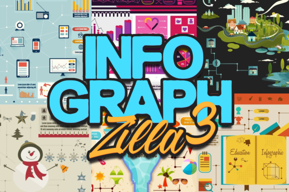 InfographZilla 3: The Easy-to-Use Super Premium Infographics Collection Infographics shopping