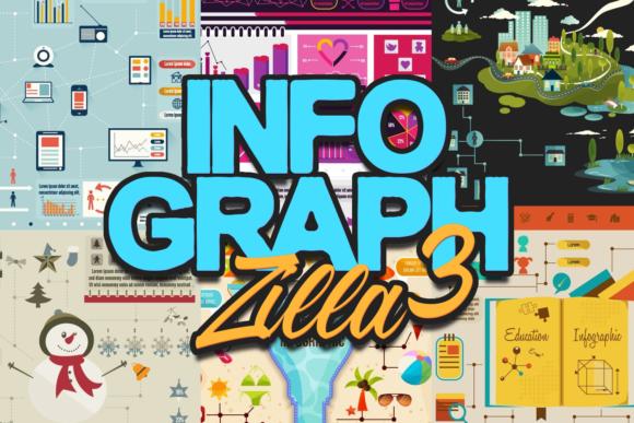 InfographZilla 3: The Easy-to-Use Super Premium Infographics Collection infographZilla3