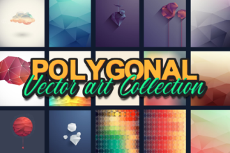 The Super Premium Polygonal Vectors Set Zilla - Super Premium Bundles background,