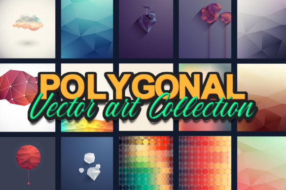 The Super Premium Polygonal Vectors Set polygonal vectors