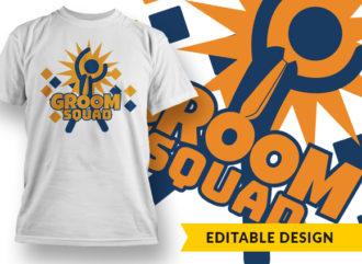 Groom Squad Online Designer Templates vector