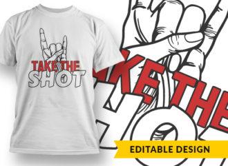 Take The Shot Online Designer Templates vector