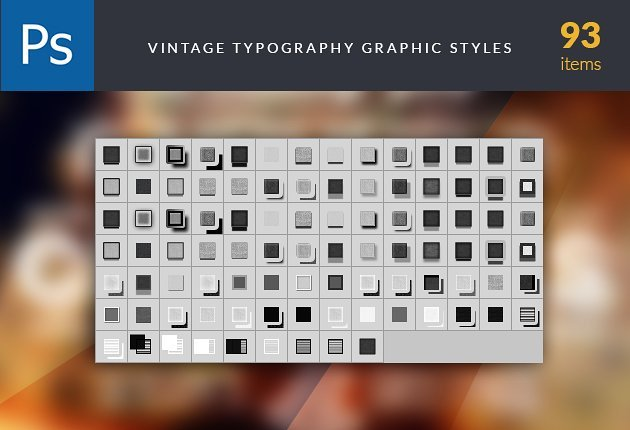 TypeZilla 3: The Super Premium Vintage Typography Set 6