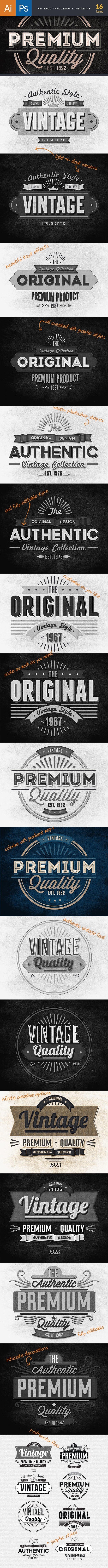 TypeZilla 3: The Super Premium Vintage Typography Set 10