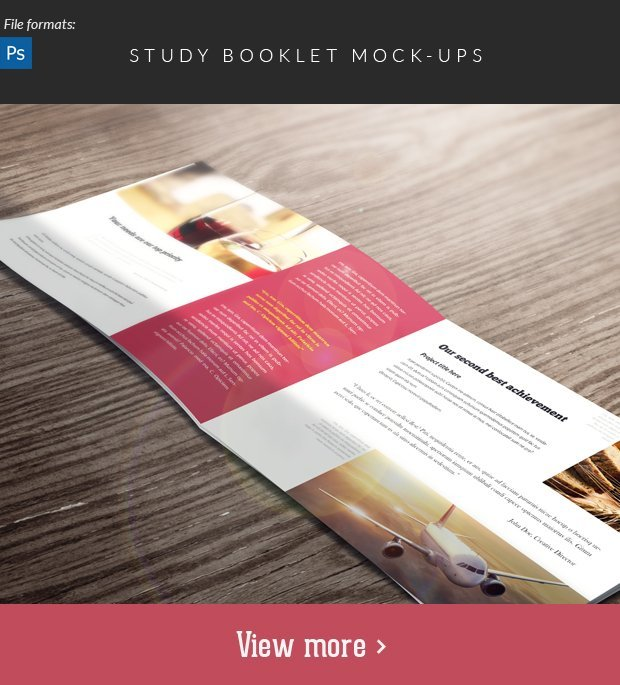The Super Premium Print Templates Bundle study booklet mockup small