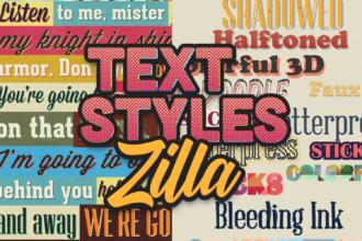 Text StylesZilla: The Super Premium Text Styles Bundle Zilla - Super Premium Bundles retro