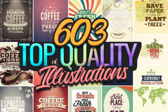 630 Top-Quality Vector Illustrations topquality