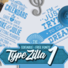 The Super Premium Typographic Illustrations Set typezilla 1 super premium vintage typography 1