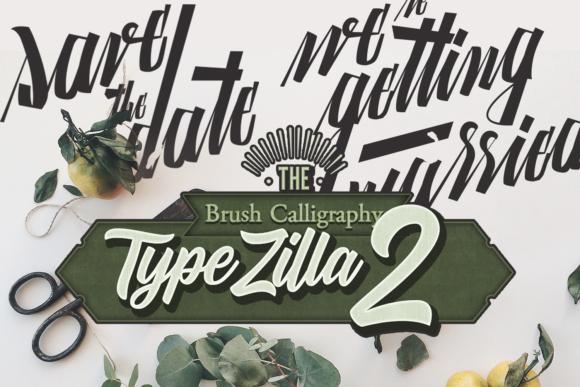 TypeZilla 2: Super Premium Handcrafted Typography Set typezilla 2 super premium vintage typography 1