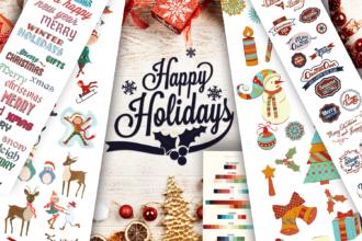 XmasZilla: The Super Premium Winter Elements Set Holidays christmas