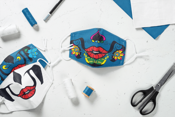"18 ""Day of The Dead"" Calavera Face Mask Designs Vector packs vector"