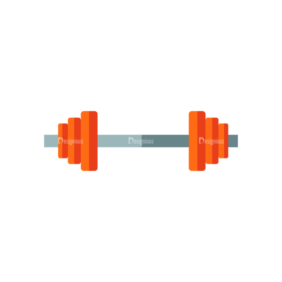 Fitness Dumbbell Preview Svg & Png Clipart Clip Art - SVG & PNG vector