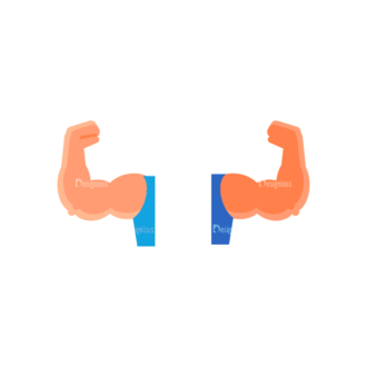 Fitness Muscle Preview Svg & Png Clipart Clip Art - SVG & PNG vector
