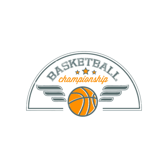 Sport Badges Basketball Preview Svg & Png Clipart Clip Art - SVG & PNG vector