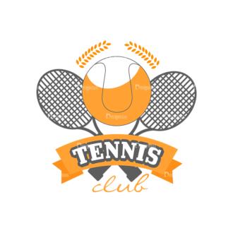 Sport Badges Tennis Preview Svg & Png Clipart Clip Art - SVG & PNG vector