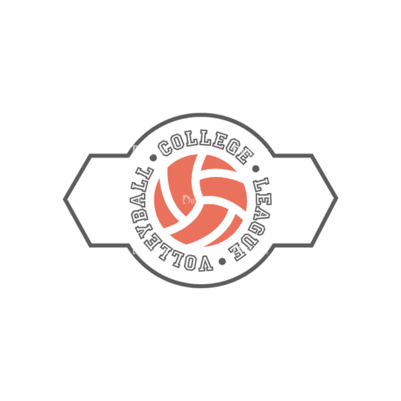 Sport Badges Volleyball Preview Svg & Png Clipart Clip Art - SVG & PNG vector