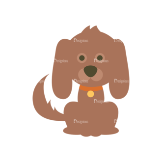 Cute Animals Dog Svg & Png Clipart Clip Art - SVG & PNG vector