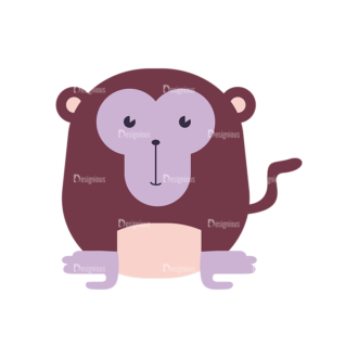 Cute Animals Monkey Svg & Png Clipart Clip Art - SVG & PNG vector