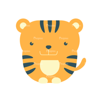 Cute Animals Tiger Svg & Png Clipart Clip Art - SVG & PNG vector