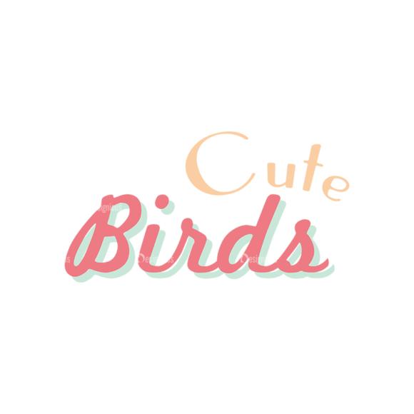 Cute Birds Bird Text Svg & Png Clipart cute birds vector set 6 vector Bird Text