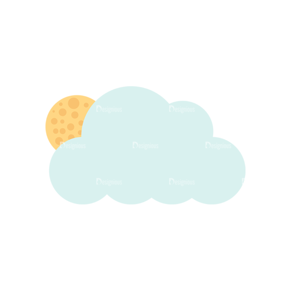 Cute Camping Cloudsandmoon Svg & Png Clipart cute camping vector set 1 vector Clouds and Moon