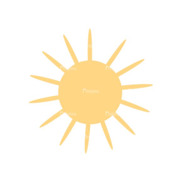 Cute Camping Sun Svg & Png Clipart Clip Art - SVG & PNG vector