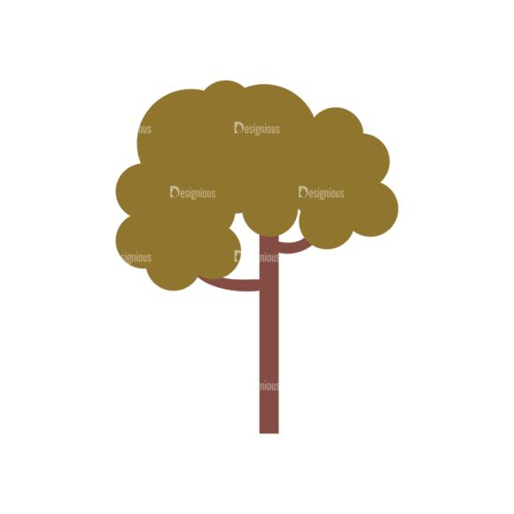 Cute Camping Tree Svg & Png Clipart cute camping vector set 1 vector Tree 03