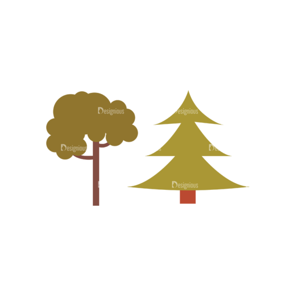 Cute Camping Tree Svg & Png Clipart cute camping vector set 1 vector Tree 16