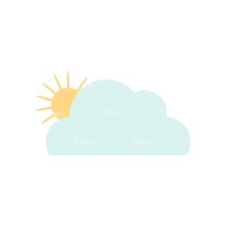 Cute Camping Cloudsandsun Svg & Png Clipart Clip Art - SVG & PNG vector