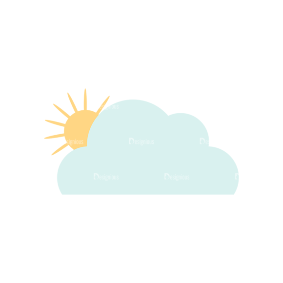 Cute Camping Cloudsandsun Svg & Png Clipart cute camping vector set 1 vector clouds and sun
