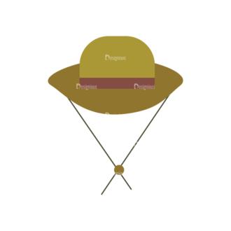 Cute Camping Hat Svg & Png Clipart Clip Art - SVG & PNG vector