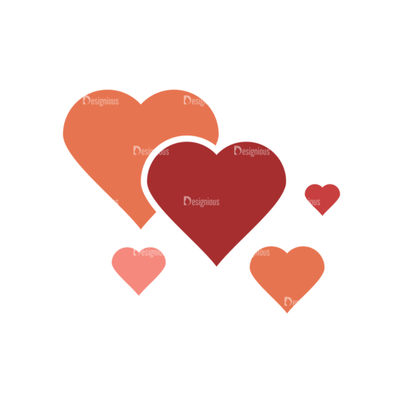 Cute Love Mosnters Heart Svg & Png Clipart cute love mosnters vector set 1 vector Heart