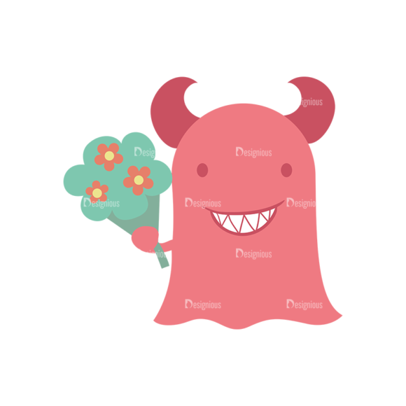 Cute Love Mosnters Monster Svg & Png Clipart Clip Art - SVG & PNG vector