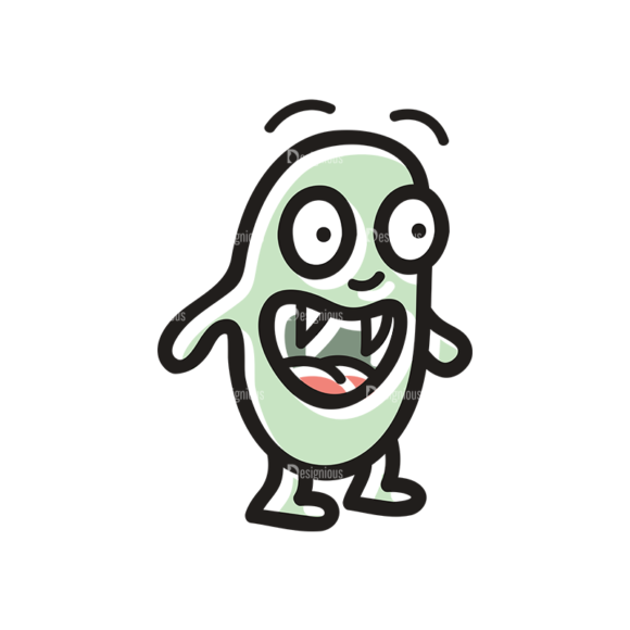 Cute Monsters Monster Svg & Png Clipart cute monsters set 11 vector monster 01