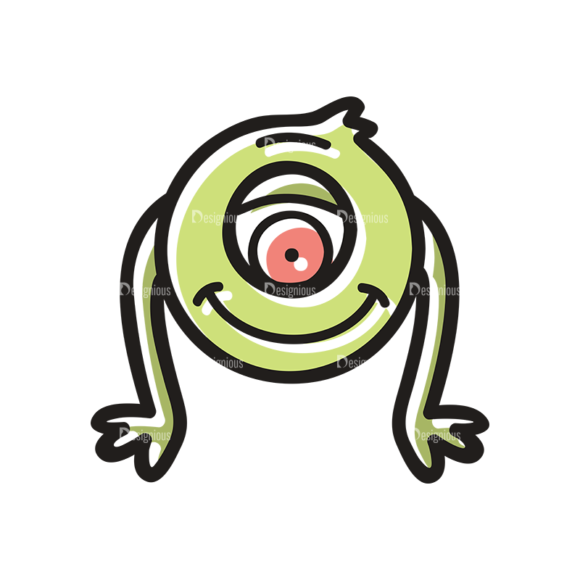 Cute Monsters Monster Svg & Png Clipart cute monsters set 11 vector monster 02