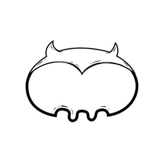 Cute Monsters Monster Shape Svg & Png Clipart Clip Art - SVG & PNG vector