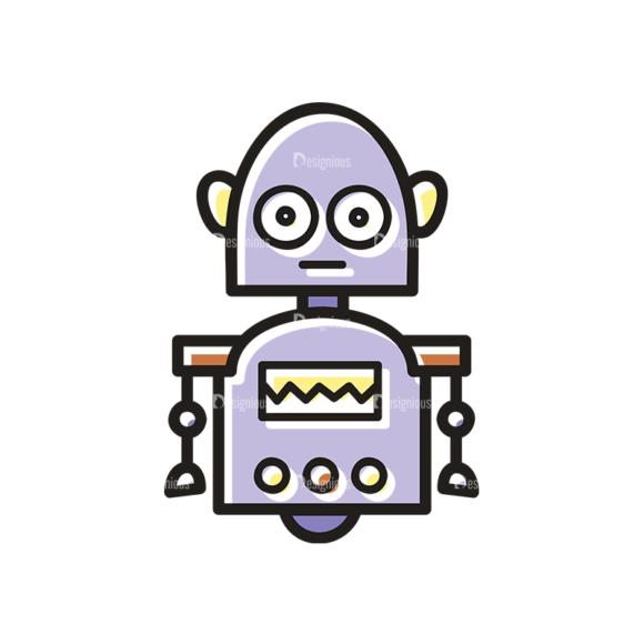 Cute Robots Robot Svg & Png Clipart Clip Art - SVG & PNG vector