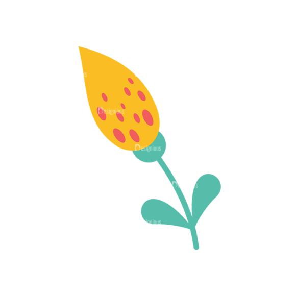 Cute Stylized Floral Vetor Flower Svg & Png Clipart Clip Art - SVG & PNG floral