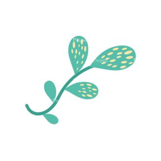 Cute Stylized Floral Vetor Leaves Svg & Png Clipart Clip Art - SVG & PNG floral